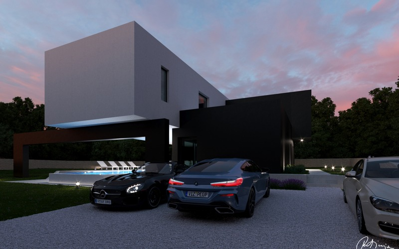 Land with permission to build modern villa in Bale, Rovinj
