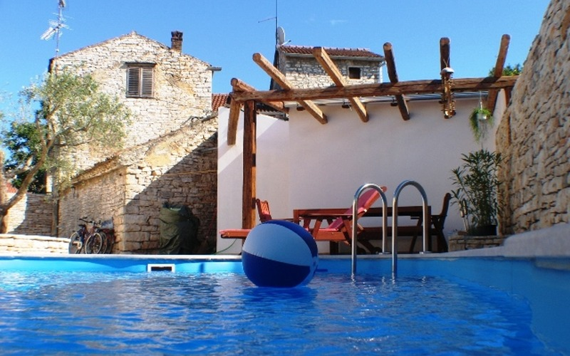 My first projects, renovation of Holiday house with pool in Peroj for family Silvester