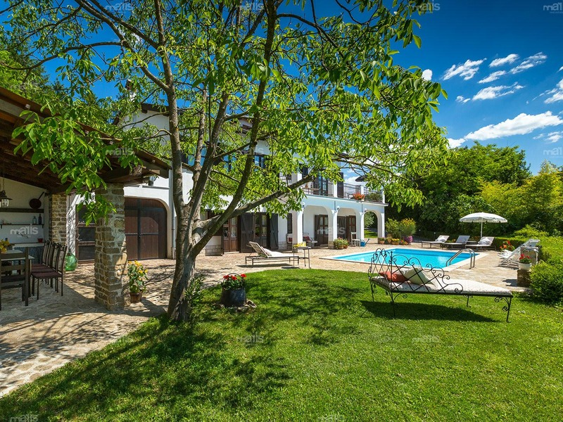 Rustic villa with pool in Motovun for sale