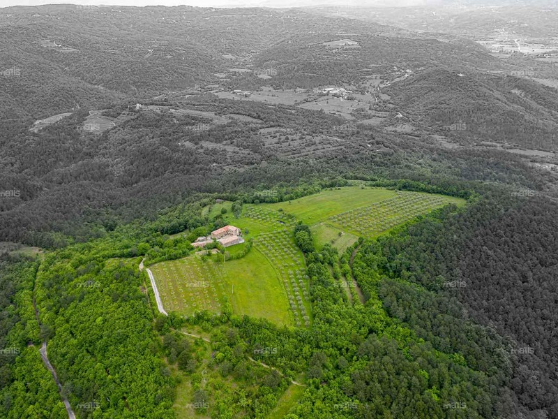 The property of stone houses on a hill near Učka on sale