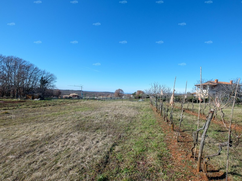 A number of building lands with sea view 15 km from the Poreč, Baderna
